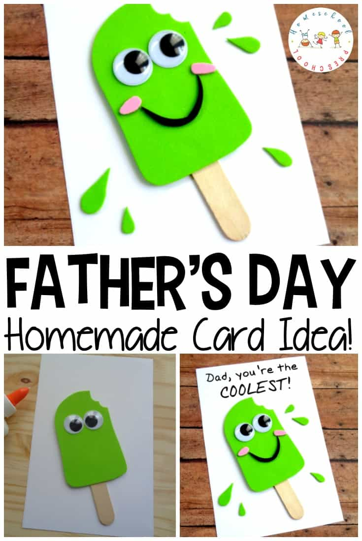This is one of the cutest Fathers Day crafts I've seen! Your kids will love making this popsicle-themed Fathers Day craft for the coolest father they know!