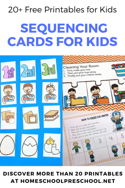 Start building a strong foundation for math and reading by introducing sequencing skills to your preschoolers. These free printable sequencing cards will get you started.