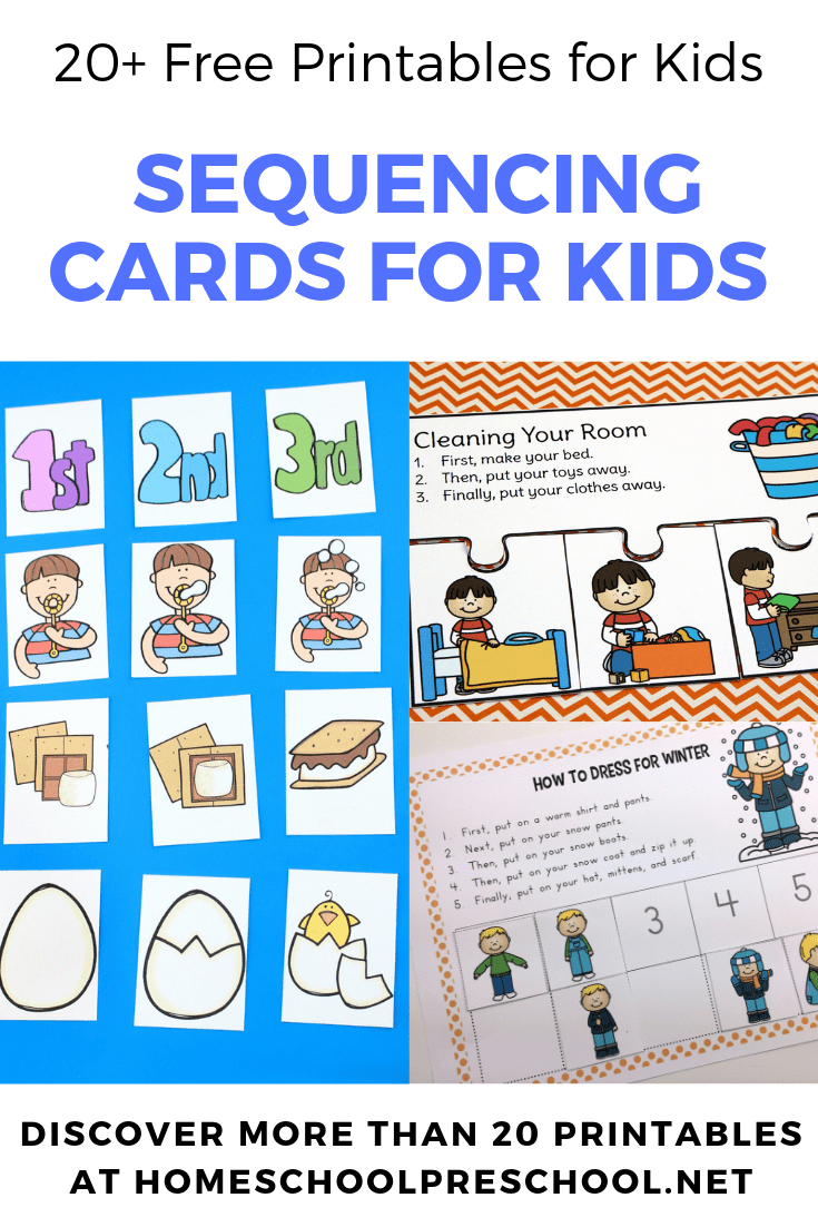 graphic about Printable Sequencing Cards called 20 Absolutely free Printable Sequencing Playing cards for Preschoolers