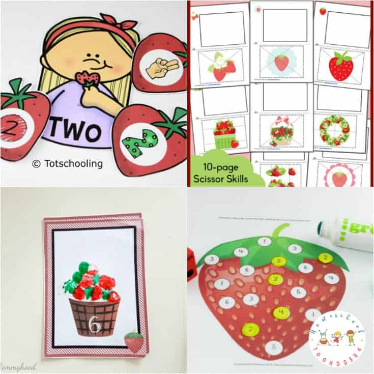 Summer is strawberry season! It's also the perfect time to add some strawberry printable worksheets and activities to your homeschool lessons.