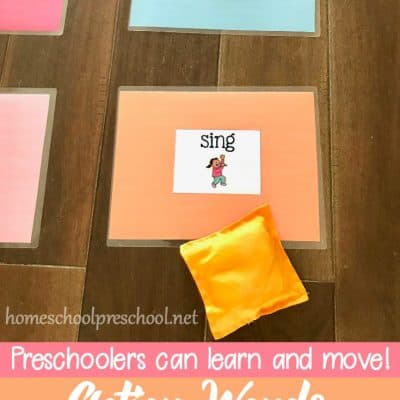 Learn and Move with a Bean Bag Toss Game for Preschoolers