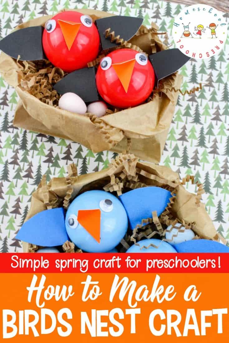 How to make a baby birds nest craft for preschoolers for Baby bird nest craft