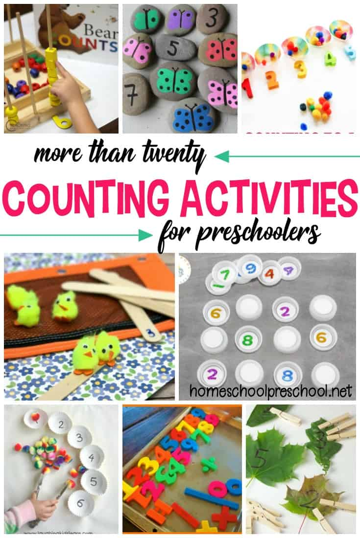 There's no better way to teach and reinforce counting than with hands-on activities. These counting activities are perfect for toddlers and preschoolers.