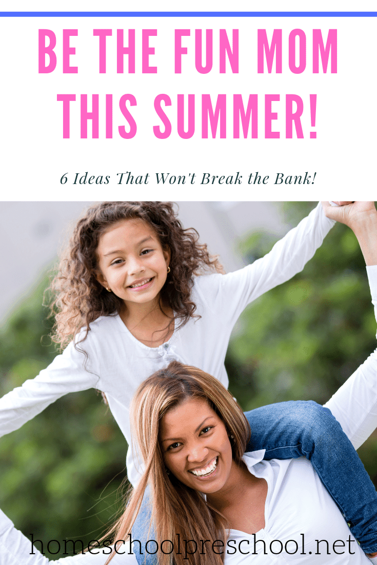 Even if you thrive on routine and structure, you can still be the fun mom! It's time to loosen the reigns a bit, and spend quality time with your kids.