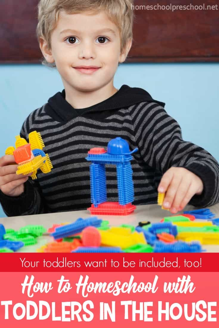 Why not include your toddlers in your homeschooling? You will be surprised at what they will learn and pick up from just being involved! Tips and ideas for how to homeschool with toddlers in the house.