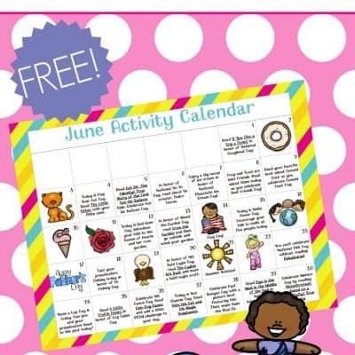 Preschool Activity Calendar for June