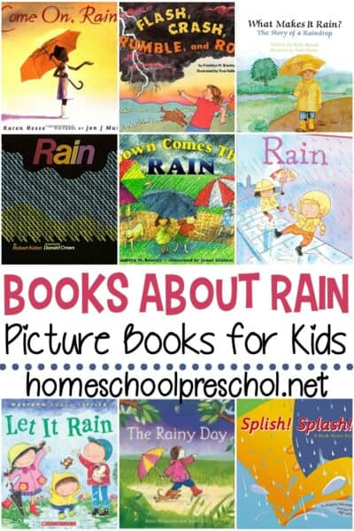 Spring showers bring new life to the world around us. Pique your preschooler's interest with this collection of books about rain.
