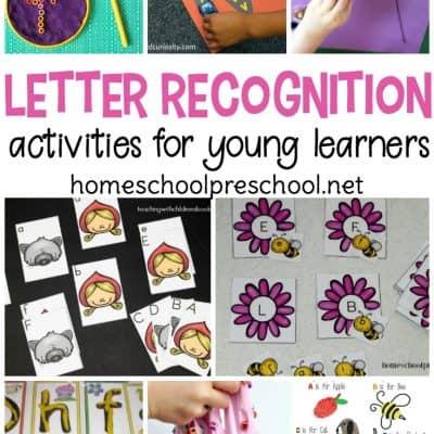 Letter Recognition Activities for Preschoolers