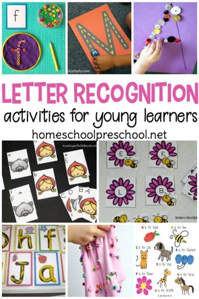 Letter recognition is an important preschool skill and a building block for beginning readers. Discover an amazing collection of more than twenty letter recognition activities for preschoolers.