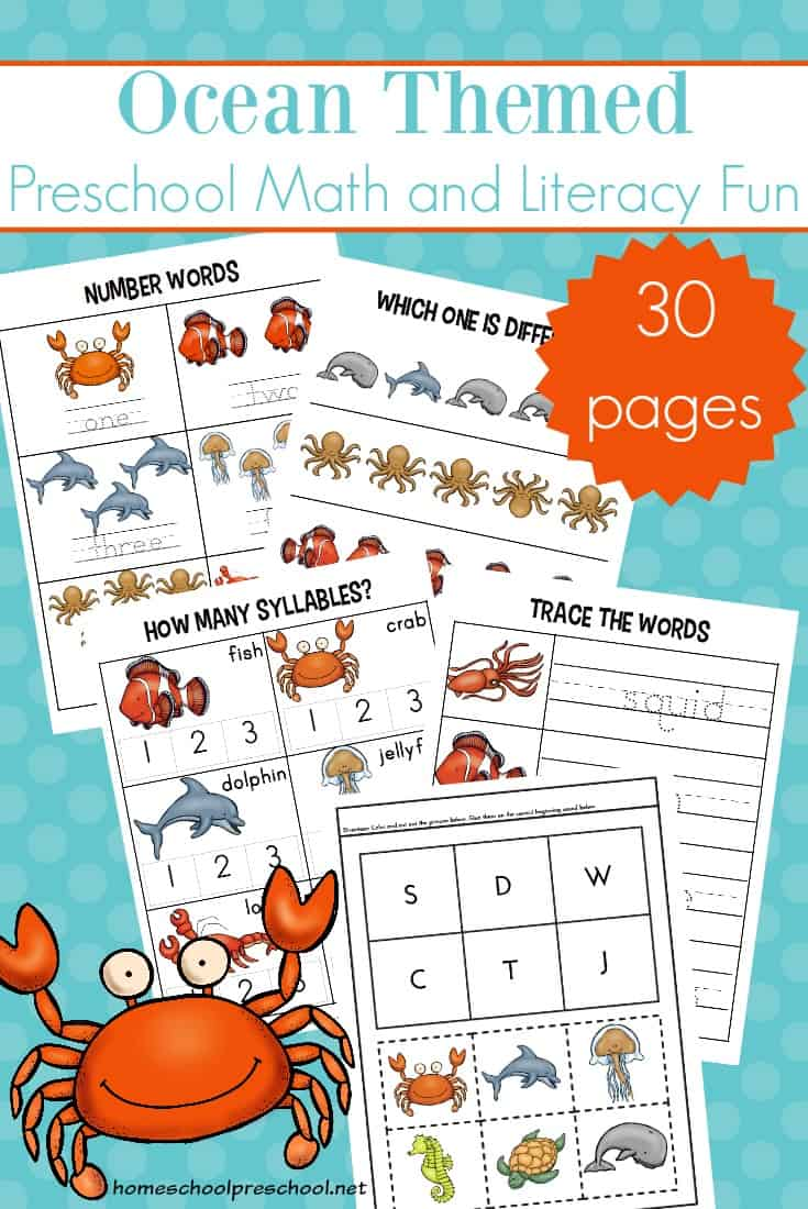 image regarding Printable Ocean Animals titled No cost Printable Ocean Worksheets for Preschool