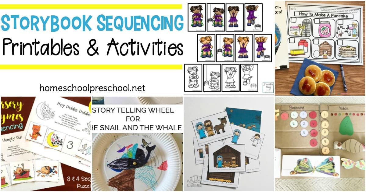 Use these story sequencing cards printable activities to teach sequencing and order to your preschoolers. These cards will help preschoolers visualize and retell their favorite stories.
