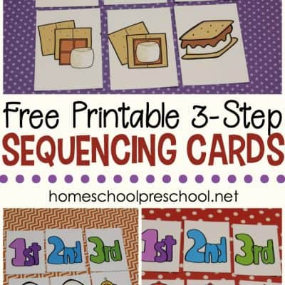 3 Step Sequencing Cards for Preschoolers