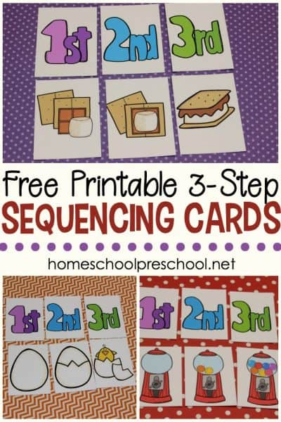 Kids will begin to make sense of the order in which events happen when you introduce them to sequencing with these 3 stepsequencing cards free printables for kids.