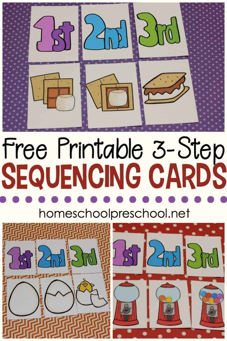 photograph regarding 4 Step Sequencing Pictures Printable called 3 Action Sequencing Playing cards Totally free Printables for Preschoolers