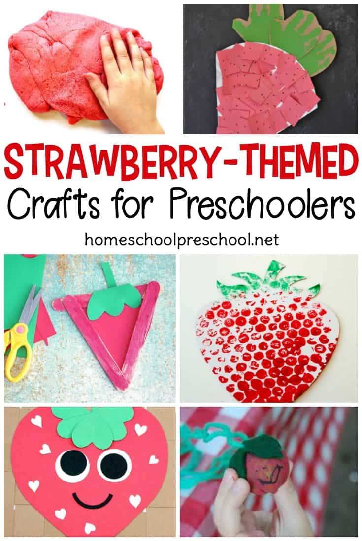 These strawberry crafts for preschoolers are sweet! They're oh-so-easy for little ones to make this spring and summer. Make one or make them all. Your preschoolers will enjoy them all!