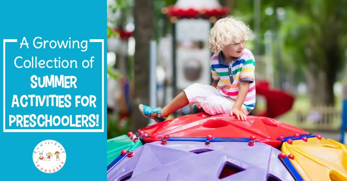 Summer is just around the corner, and you are going to love this amazing collection of summer activities for preschoolers! Discover an amazing collection of books, printables, and resources for the whole season!