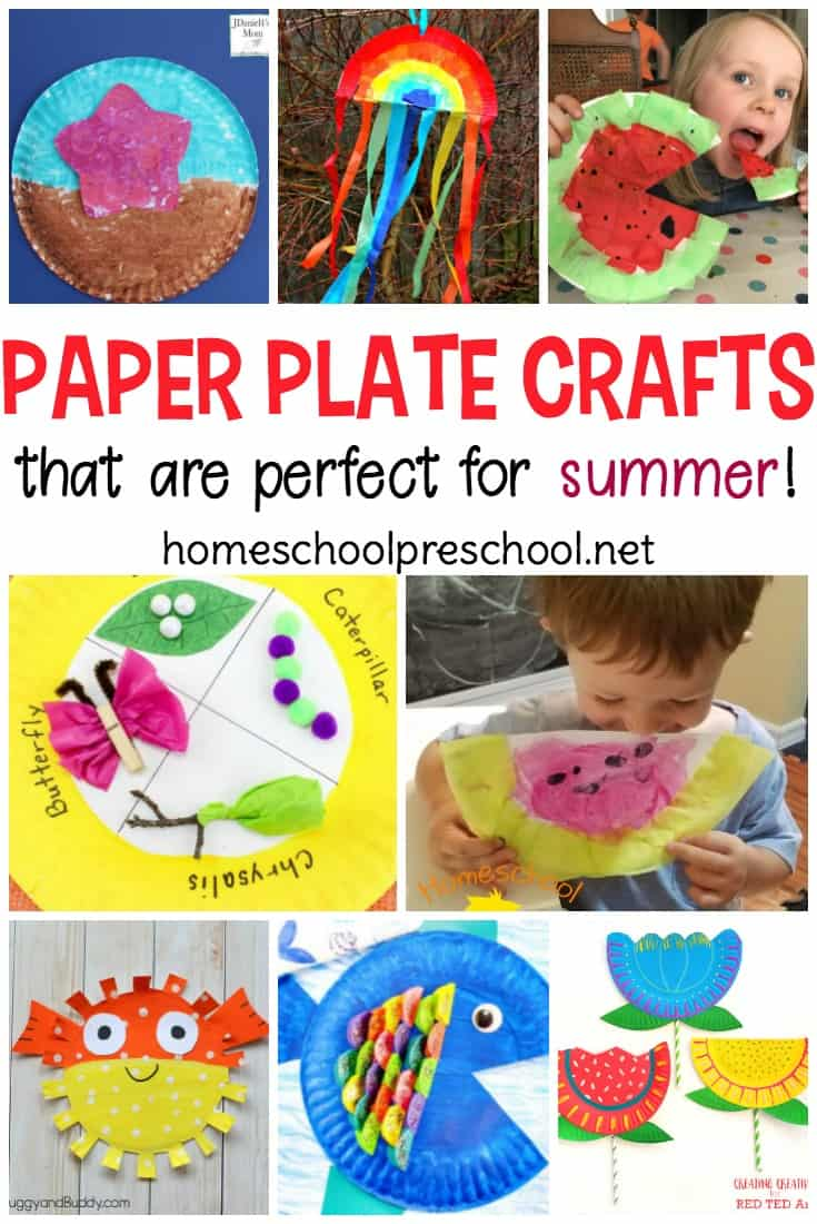 You won't believe all the summer paper plate crafts I've discovered! From mermaids and pirates to flowers and summer fruit, there are so many crafts to choose from you won't know where to start!