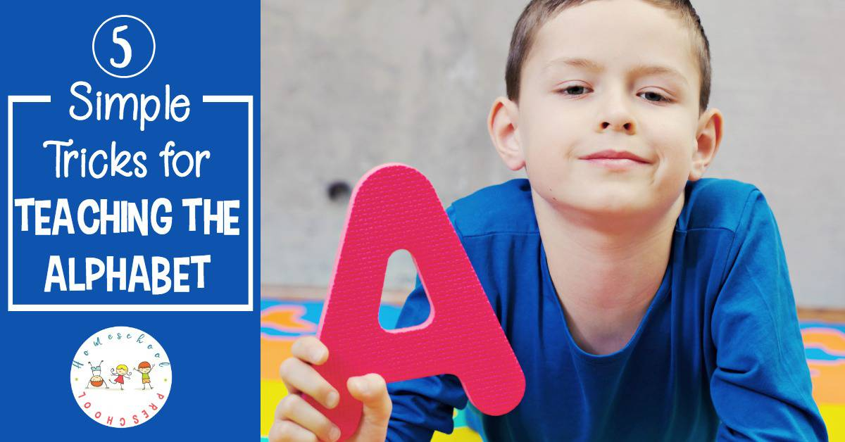Teaching the alphabet to preschoolers doesn't have to be intimidating. Just use these simple tricks and have fun in the process!