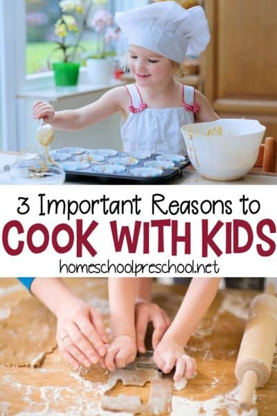 Discover three fabulous reasons cooking with kids is important. From learning important life skills to important health benefits, don't pass up this important learning opportunity.