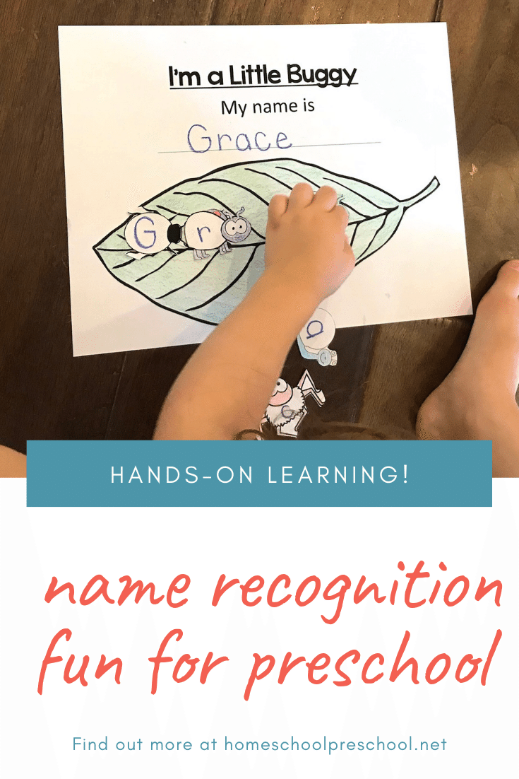 Help your child become familiar with their name in print with this insect-themed name recognition activity. It's perfect for spring and summer learning.