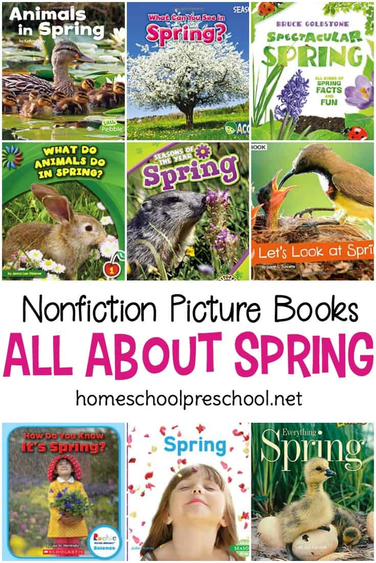 Introduce your preschoolers to the science behind spring with this collection of nonfiction spring books for preschoolers. From weather to flowers and everything in between, your little ones will love learning about spring!