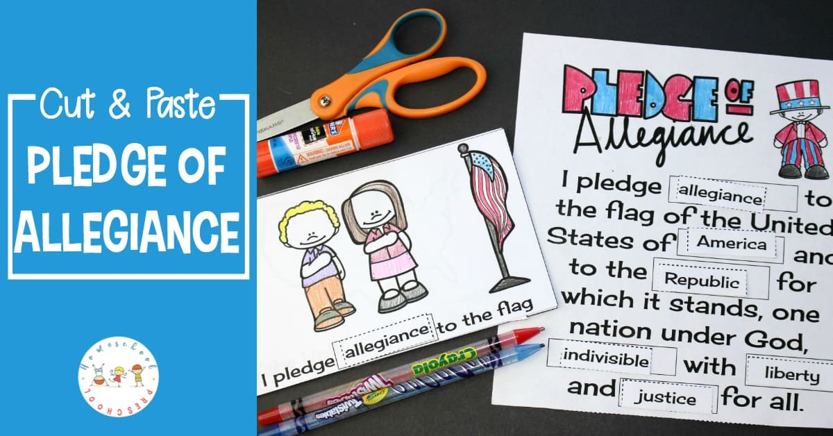 photo about Pledge of Allegiance Words Printable known as Minimize and Paste Pledge of Allegiance Text Printable
