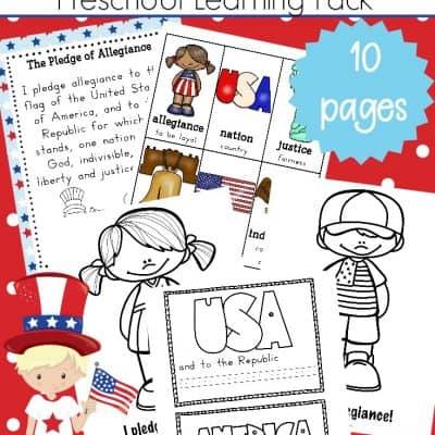 Pledge of Allegiance Printables