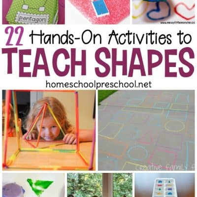 20+ Preschool Activities to Teach Shapes
