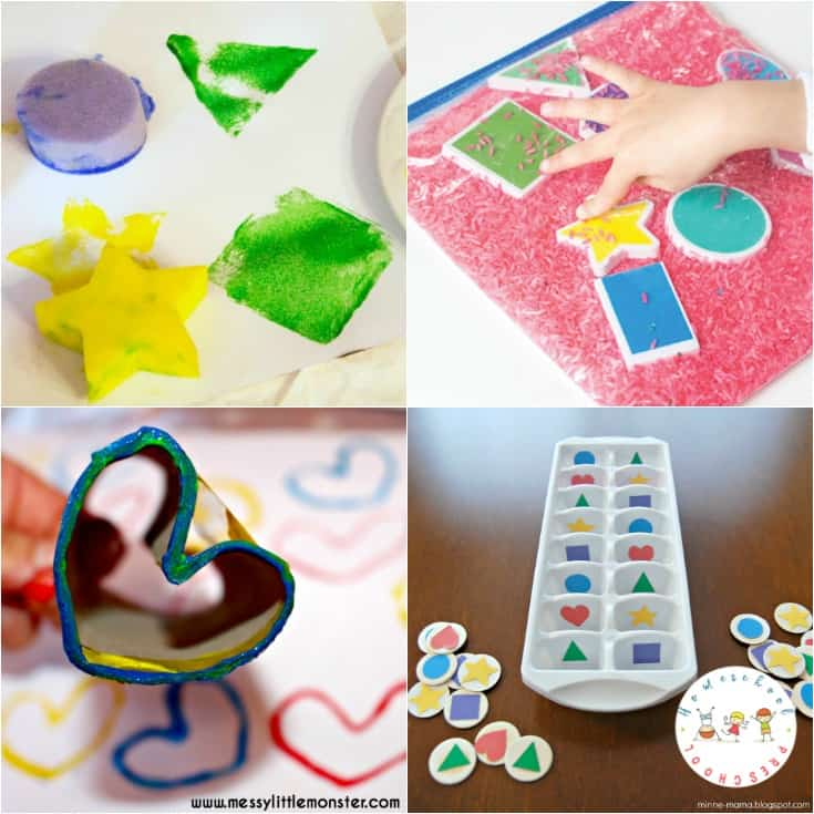 Discover more than 20 engaging preschool activities to teach and reinforce shapes! Low-prep, hands-on fun for little ones.