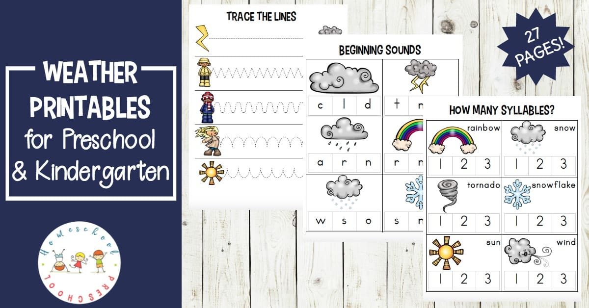 Free Printable W Is For Weather Worksheets For Preschool