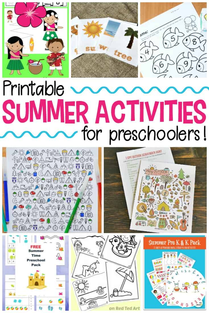Welcome summer with these printable summer activities for kids. From coloring pages and scavenger hunts to flash cards and book logs, we've got all you need for preschool summer fun!
