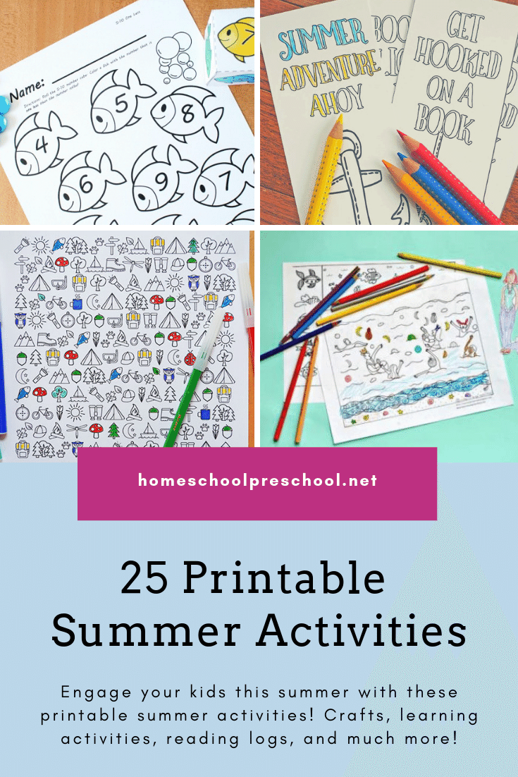 Don't miss these printable summer activities for kids. From coloring pages and scavenger hunts to flash cards and book logs, we've got all you need for summer fun!