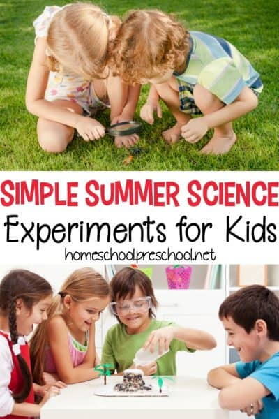 Combat summer boredom with five simple science experiments for kids. They're perfect for summer, and they're engaging for preschoolers and big kids alike.