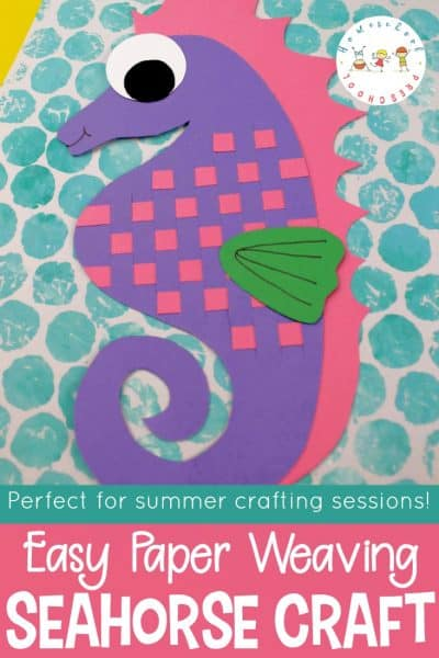 Easy Paper Weaving Seahorse Art Project for Kids