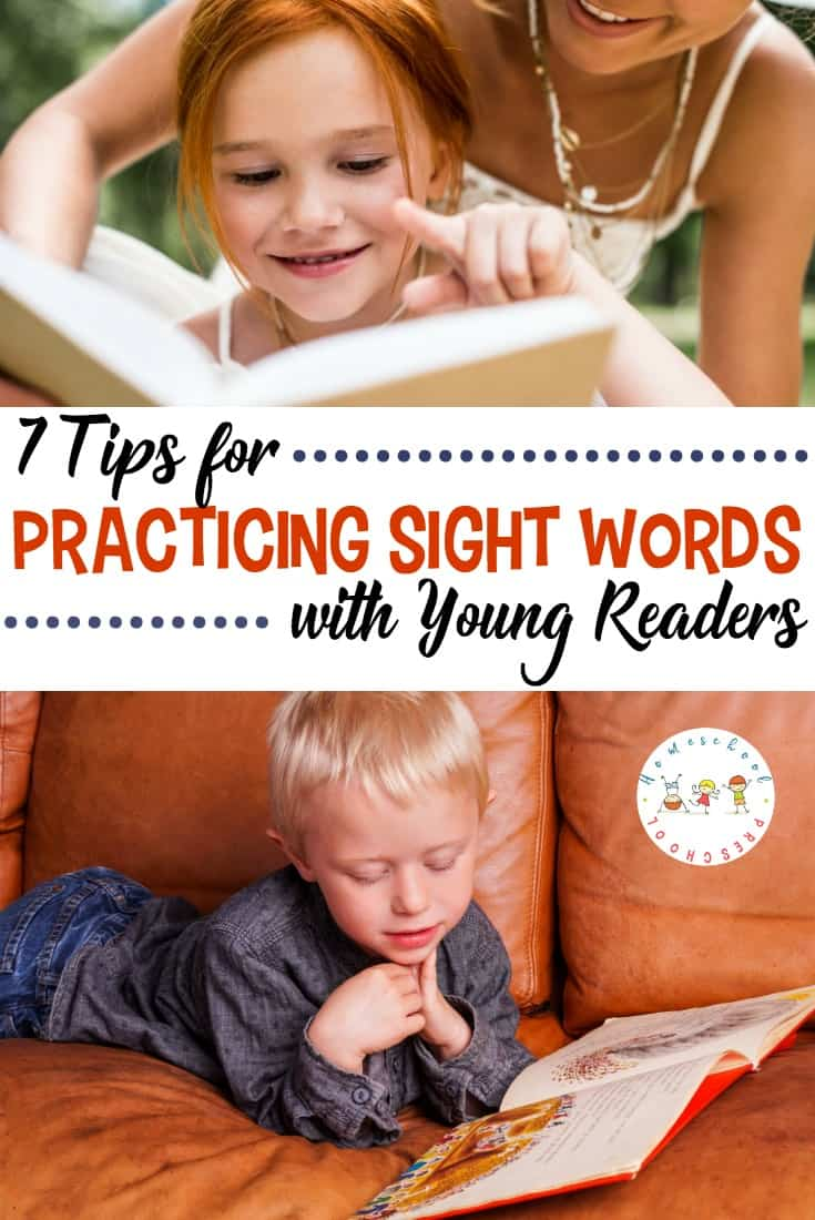 Discover 7 tips for sight word practice with your young learners. Each one will get your kids engaged and improve their retention of the sight words you're working on.