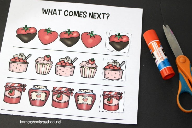Download these FREE strawberry preschool printables. They will help preschoolers practice shapes, ABCs, counting, and more!