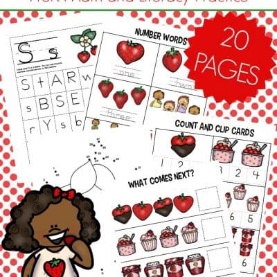 S is for Strawberry Preschool Printables