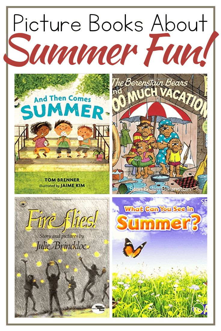 Don't miss these summer books for preschoolers. Kids will love reading or listening to picture boosk about fireflies, camping, vacation, and more!