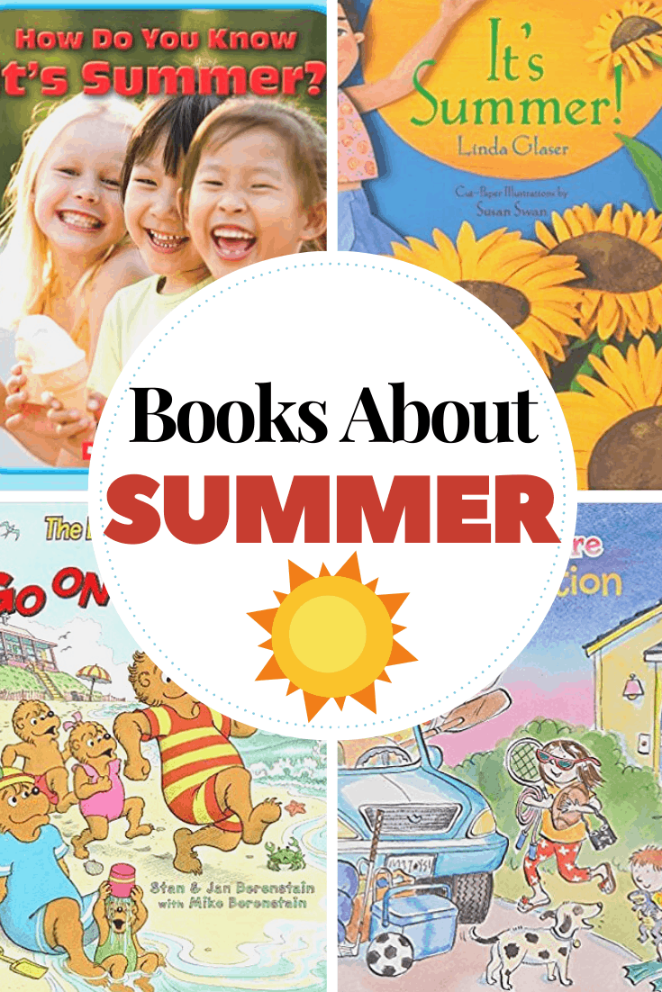 Don't miss these summer books for preschoolers. Kids will love reading or listening to picture books about fireflies, camping, vacation, and more!