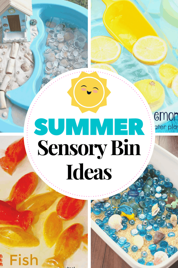 Encourage sensory exploration this summer by creating these awesome summer sensory bin ideas! Themes include oceans, gardens, and so much more!