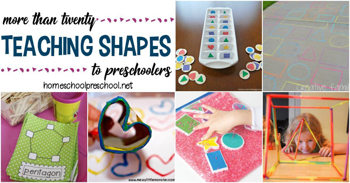Discover more than 20 engaging preschool activities to teach and reinforce shapes! Hands-on fun for little ones.