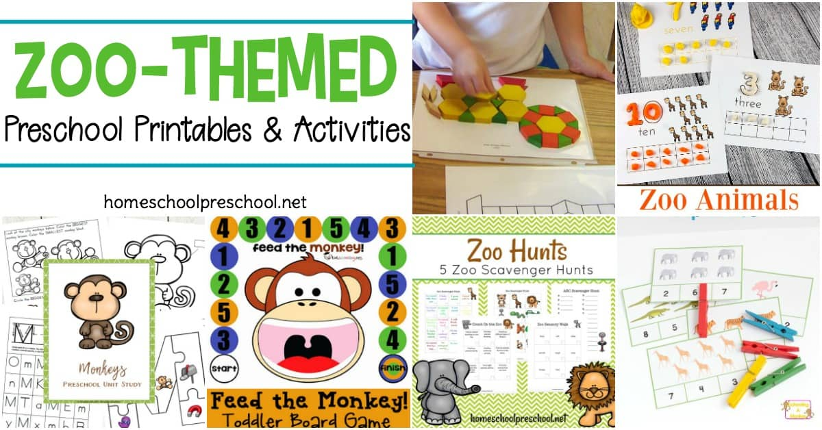 From craft templates to scavenger hunts and everything in between. Pique your little one's interest in zoo animals with these zoo preschool theme printables.