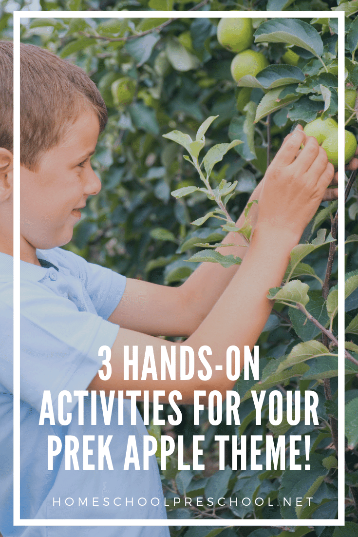 It's the perfect time to enjoy these three awesome apple activities with your preschooler. They're a great addition to your apples preschool theme this fall.