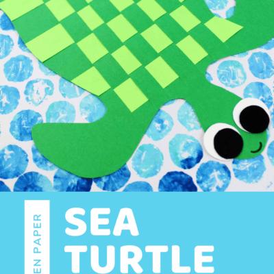 Paper-Weaving Sea Turtle Craft