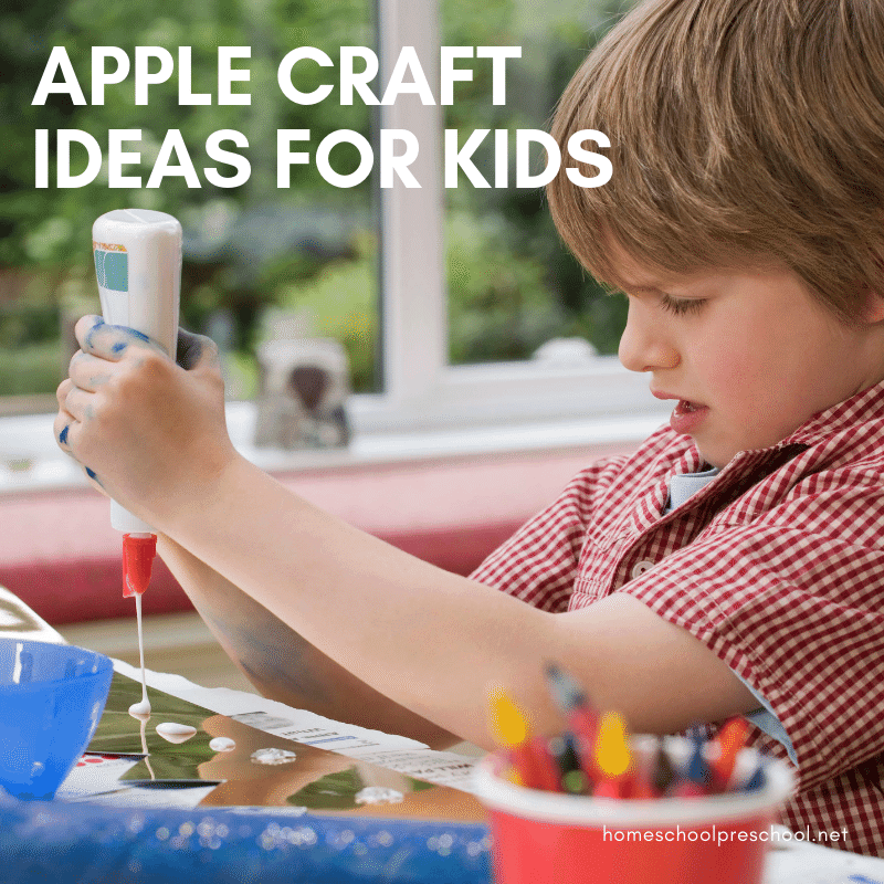 Summer is winding down, and autumn is just around the corner. It's a perfect time to explore some new apple craft ideas with your preschoolers.