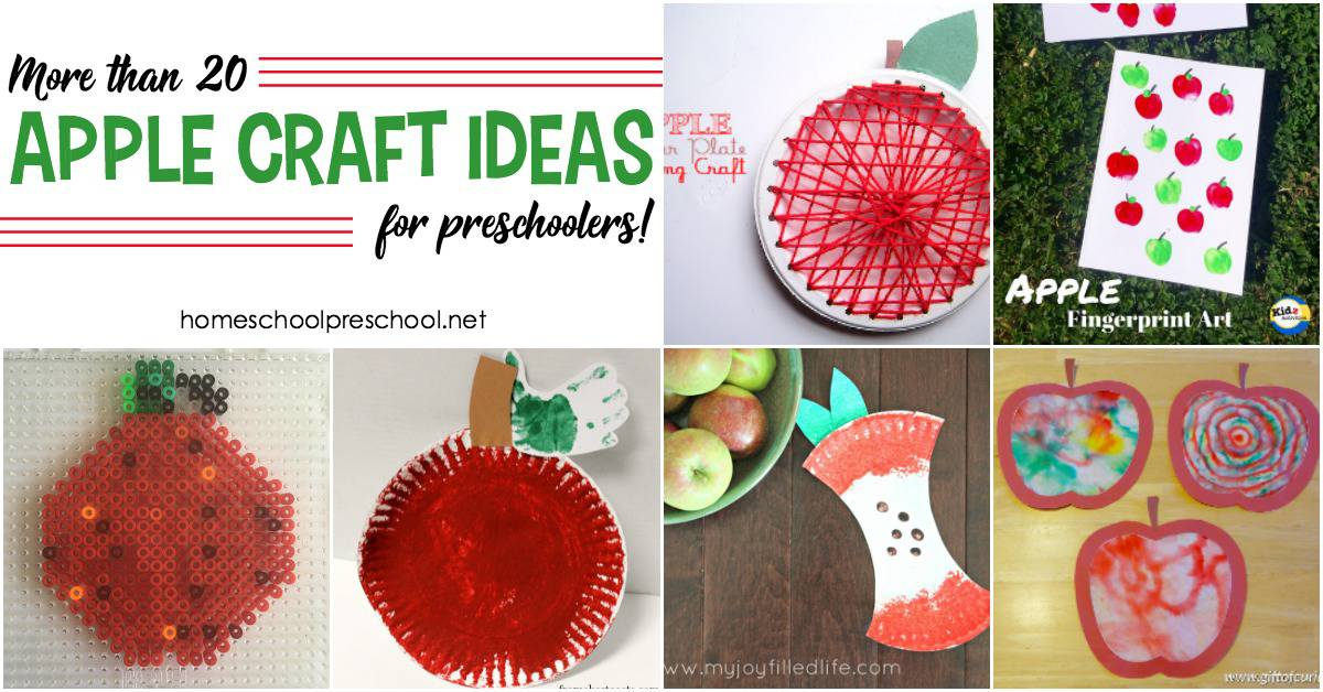 20 Of The Best Simple Apple Craft Ideas For Preschoolers