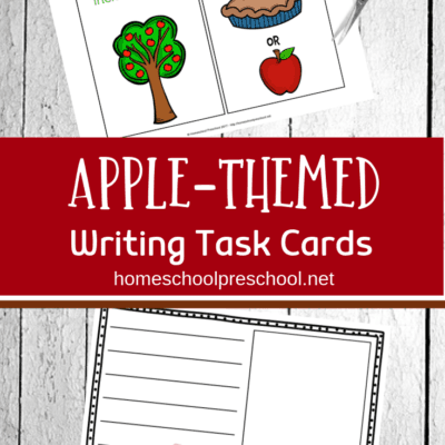 Apple Writing Task Cards for Kids