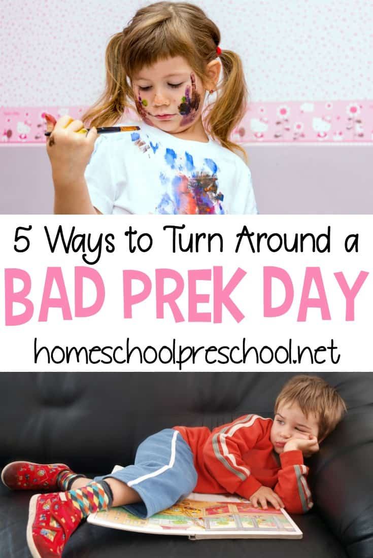 Sometimes preschoolers wake up in a foul mood. Instead of dealing with endless tantrums, try one of these tips to turn a bad preschool day around.