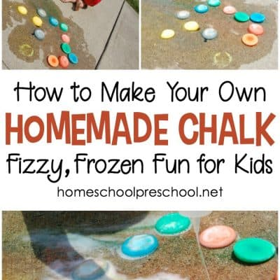 How to Make Frozen Sidewalk Chalk for Kids