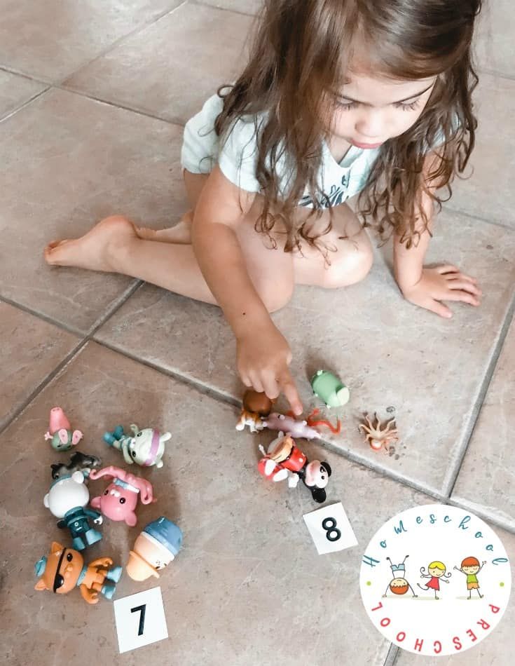 Use your child's favorite toys to help them count to twenty. This hands-on counting activity will keep preschoolers engaged for a long time.